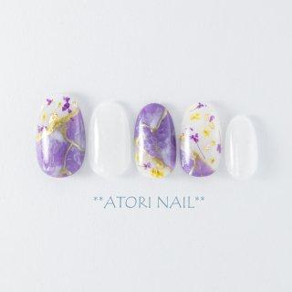 押し花の大理石ネイル AG-5