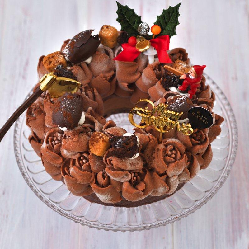クリスマスリース ショコラショコラ・5号(限定50個)(お届けは12月20日〜12月25日)