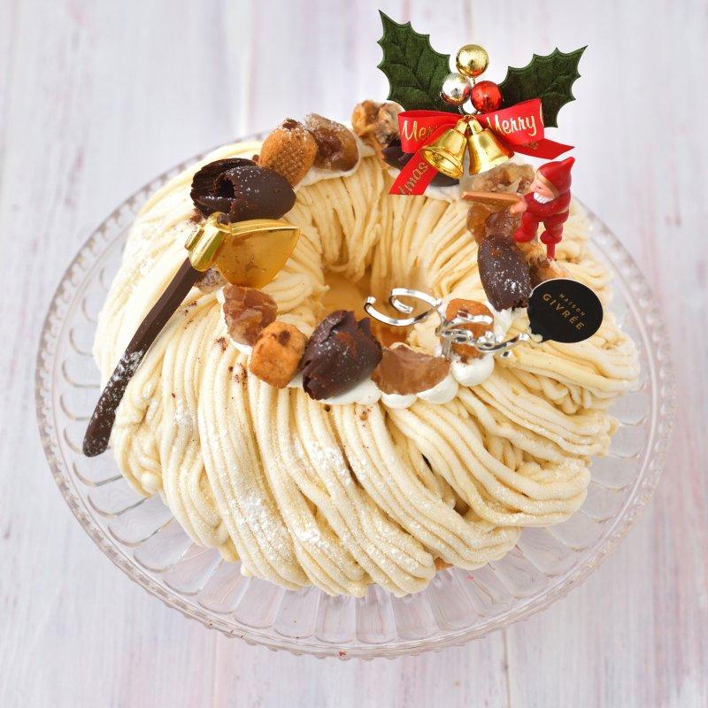 クリスマスリース 熟成和栗のモンブラン・5号(限定50個)(お届けは12月20日〜12月25日)