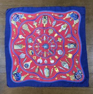 【HERMES】SCARF NAVY×RED