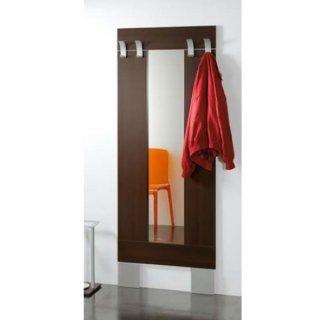 コートフック付ウォールミラー/L'ALTRO 0/502 イタリア組立家具pezzani (幅72高さ189cm)