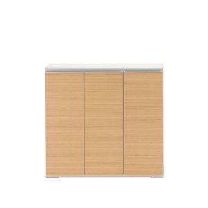 扉付カウンター下収納/エリーゼアッシュ(完成品 幅90.5奥行31高さ84cm)