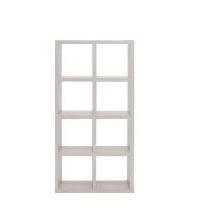 フナモコ縦横自在両面シェルフFREEDOM 4段2列(ホワイトウッド 幅77.7奥行29.7高さ151.5 F☆☆☆☆完成品)