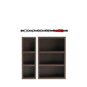 新ラチス/オーダーシェルフ仕様変更 フナモコ|ロータイプ(レベッカオーク 幅39〜73x高さ113.8 完成品)