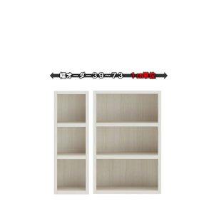 新ラチス/オーダーシェルフ仕様変更 フナモコ|ロータイプ(ホワイトウッド 幅39〜73x高さ113.8 完成品)