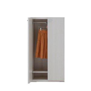 リビングシェルフ 洋服板扉(ホワイトウッド 幅60奥行38.7高さ113.8cm)