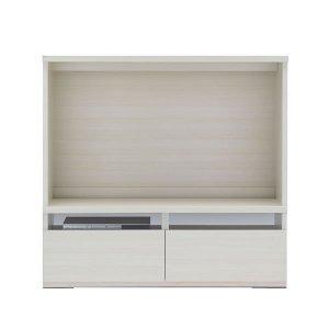 テレビボード(ホワイトウッド 幅120奥行38.5高さ113.8cm)