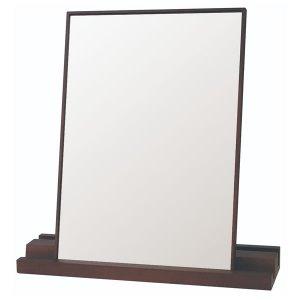 木製卓上ミラー ペデット タテ・ヨコ使い両用 (ブラウン(BR) 幅45x高さ46.5cm)