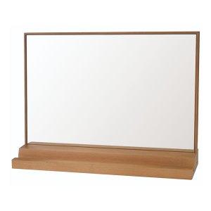 木製卓上ミラー ペデット タテ・ヨコ使い両用 (ナチュラル(NA) 幅45x高さ46.5cm)