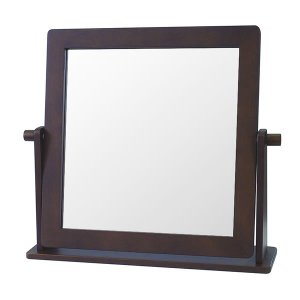 木製シンプル 卓上ミラー(幅46x高さ41)