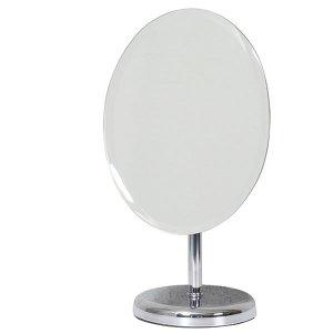 アイメイク用円形デスクミラー(片面ミラー 幅20奥行14高さ35cm)