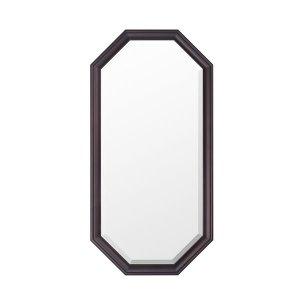 ウォールミラー/八角フレーム オーク材(飛散防止加工 幅35x高さ70)