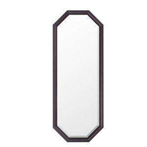 ウォールミラー/八角フレーム オーク材(飛散防止加工 幅35x高さ95)