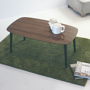 木目調鏡面仕上げローテーブル(幅90奥行50高さ38.5cm)