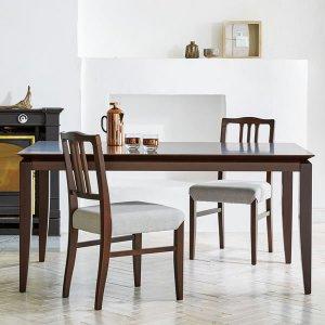 (クラシック)ブナ突板ダイニングテーブル(6人掛/幅150奥行90高さ70cm)