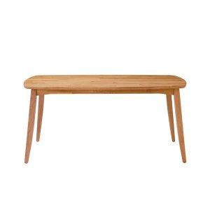 (天然木レトロ)オーク集成材ダイニングテーブル(4人掛/幅150奥行85高さ70)