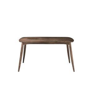 (天然木レトロ)ウォールナット集成材ダイニングテーブル(4人掛/幅135奥行80高さ70)