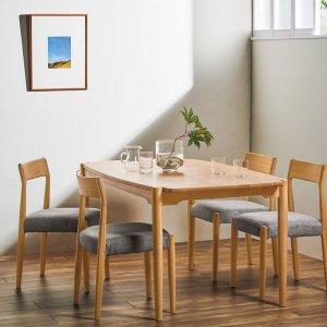 (天然木)オーク集成材ダイニングテーブル(4人掛/幅150奥行85高さ70)
