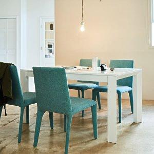 (クールモダン)鏡面塗装仕上げダイニングテーブル(幅140奥行80高さ70cm)