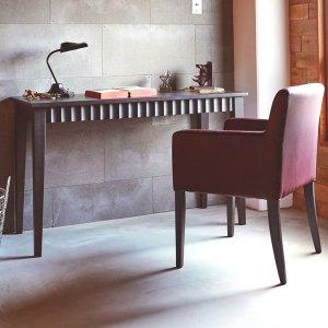 クラシックスタイル天然木集成材デスク/引出2杯付(幅120奥行50高さ73cm)