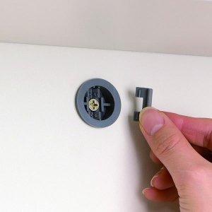 壁面固定補助具用穴加工オプション(ラック幅60.4/90.2cm用)