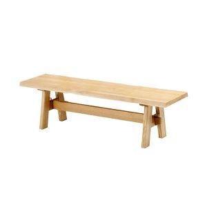 ダイニングベンチ/天然木タモ無垢材(幅150)