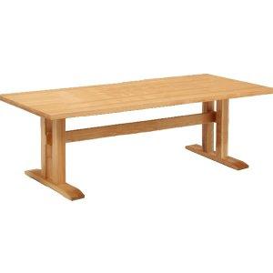 ダイニングテーブル/天然木タモ材(幅210x奥100x高さ69)