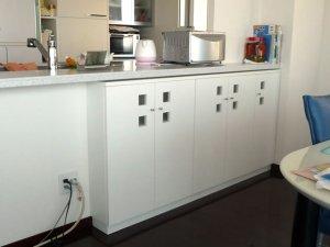 オーダー家具制作事例0399:カウンター下収納(幅170x奥18x高さ85)