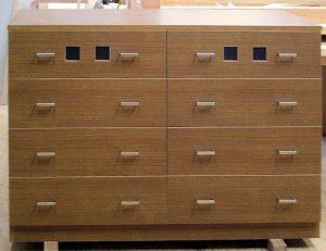 オーダー家具制作事例0149:ウィンドウ チェスト5段