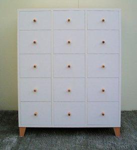 オーダー家具制作事例0183:メールボックス(5段x3列)