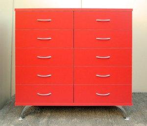 オーダー家具制作事例0224:レッド チェスト