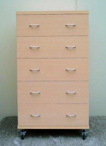オーダー家具制作事例0237:メディア収納5段チェスト