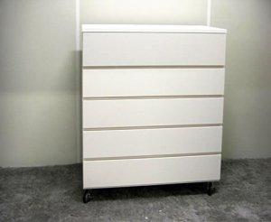 オーダー家具制作事例0501:「リセット」チェスト5段(幅90x奥40x高97)