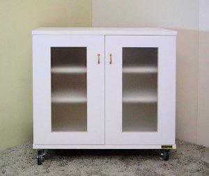 オーダー家具制作事例0139:キャビネット「リセット」ホワイト
