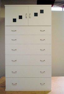 オーダー家具制作事例0220:引出し6段キャビネット高さ144cm