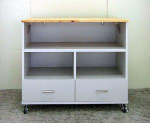 オーダー家具制作事例0301:リビングラック3段(特殊仕様)
