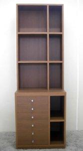 オーダー家具制作事例0357:引出付本棚(特注)(幅60x高さ178)