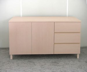 オーダー家具制作事例0424:チェストキャビネット(幅115x奥41x高さ63cm)