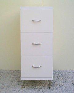 オーダー家具制作事例0205:チェスト「リセット」ホワイト