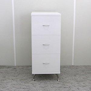 オーダー家具制作事例0425:ミニチェスト3段(幅35x奥40x高さ85)