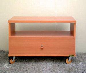 オーダー家具制作事例0197:コーナーテレビ台2段