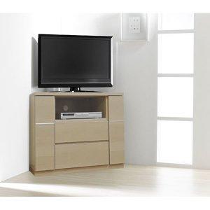 ハイタイプTVボード(ダイニング/寝室向き)高さ66cm/コーナー薄型(幅90 完成品)