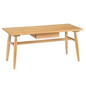 天然木オーク/テーブル引出付(ナチュラル 幅100奥行45高さ44)