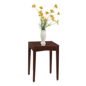 ロースタンド/シンプル木製(ダークブラウン/幅30x高さ41cm)