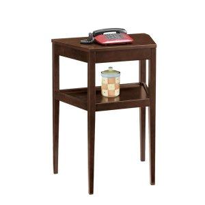 コンソールテーブル/シンプル木製(ダークブラウン/幅60x高さ80cm)