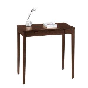 デスク/シンプル木製(ダークブラウン/幅70x高さ70cm)