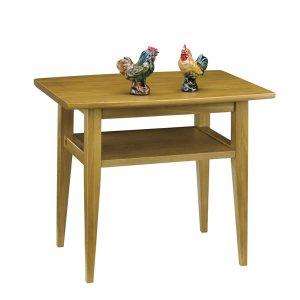 天然木リビングテーブル(ライト色 幅60x奥行45 ニレ無垢材)