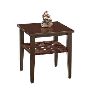 木製リビングテーブル(ダーク色 幅45x奥行45 マイアン材/MDF)