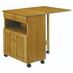 木製キッチンバタフライワゴン ライト色(キャスター付 幅80/35)[奥行60高さ70]