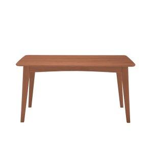 天然木オーク集成材ダイニングテーブル(ブラウン 幅135奥行80高さ72cm)